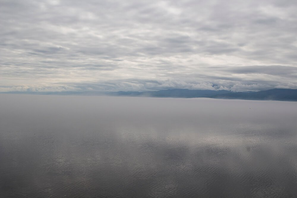 Fog over Baikal Lake
