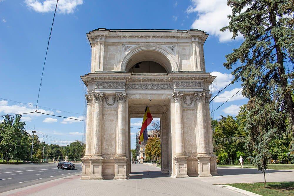 The Arch of Triumph in Chisinau, Moldova