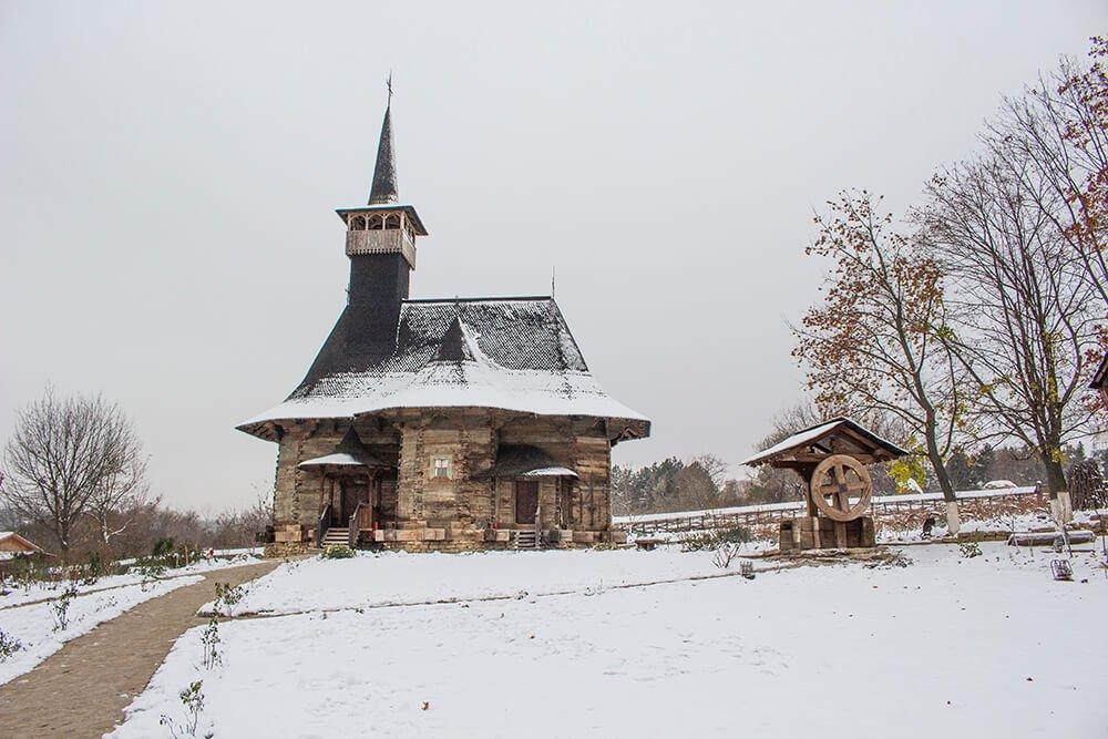 Wooden church in Chisinau, Moldova