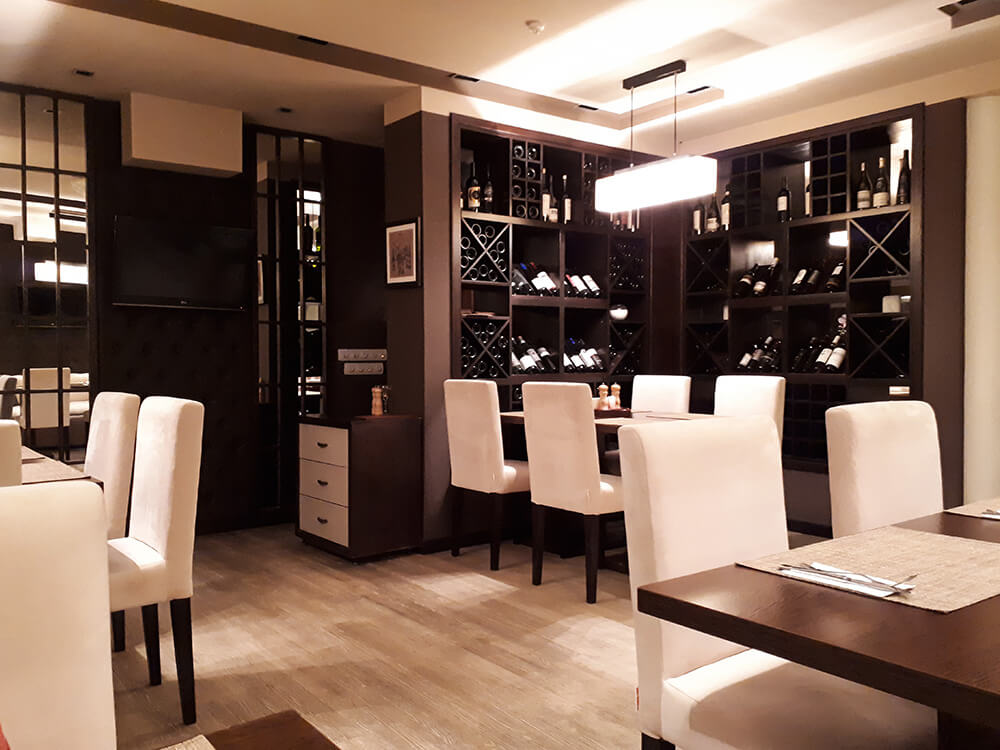 Beef and wine interior