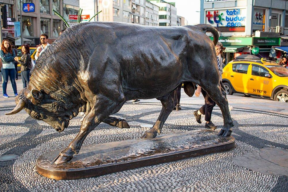 The bull in Kadikoy, Istanbul